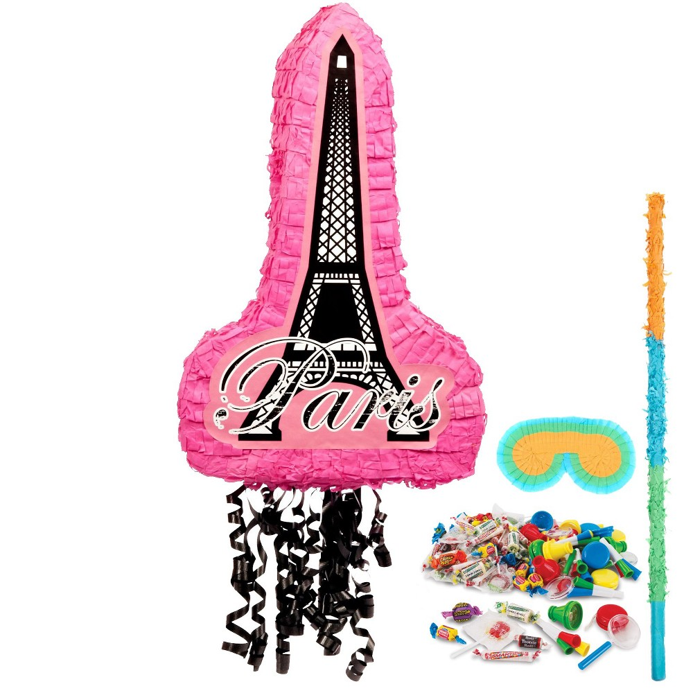 Paris Damask Pinata Kit, Multi-Colored