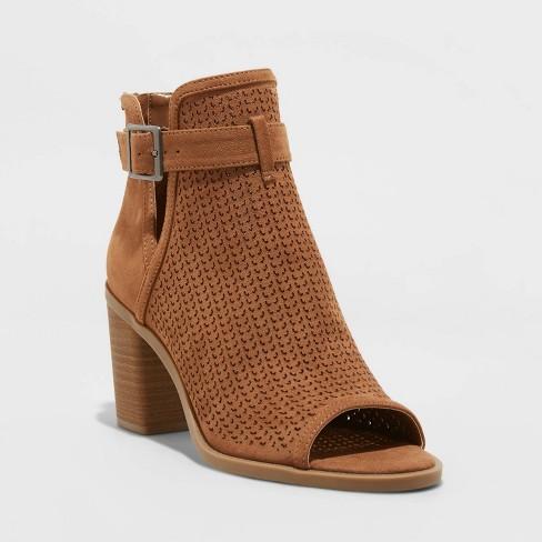 Women's Edith Open Toe Bootie Heels - Universal Thread™ - image 1 of 4