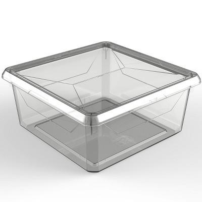 9.1qt Medium Modular Storage Bin Clear - Ezy Storage