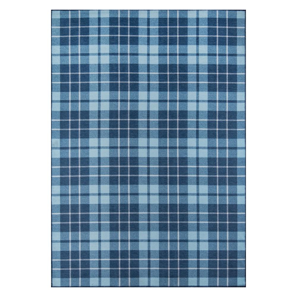 5'X7'6 Plaid Loomed Area Rug Blue - Novogratz By Momeni