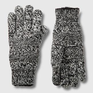 Isotoner Women's SmartDri Textured Knit Glove with Sherpasoft Spill - Ivory One Size