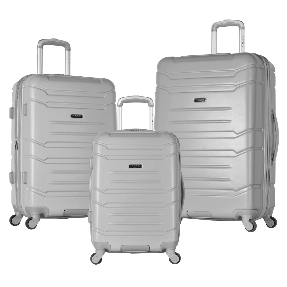 Image of Olympia USA Denmark 3pc Luggage Set - Silver