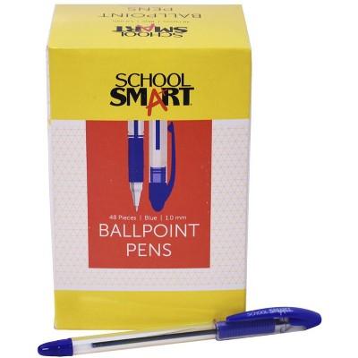 School Smart Blue Ballpoint Pen, pk of 48