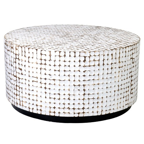 Cummings Coconut Shell Inlay Coffee Table - East At Main - image 1 of 4
