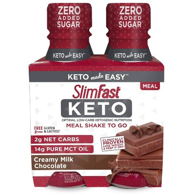 SlimFast Keto Ready To Drink Shake - Chocolate - 4pk