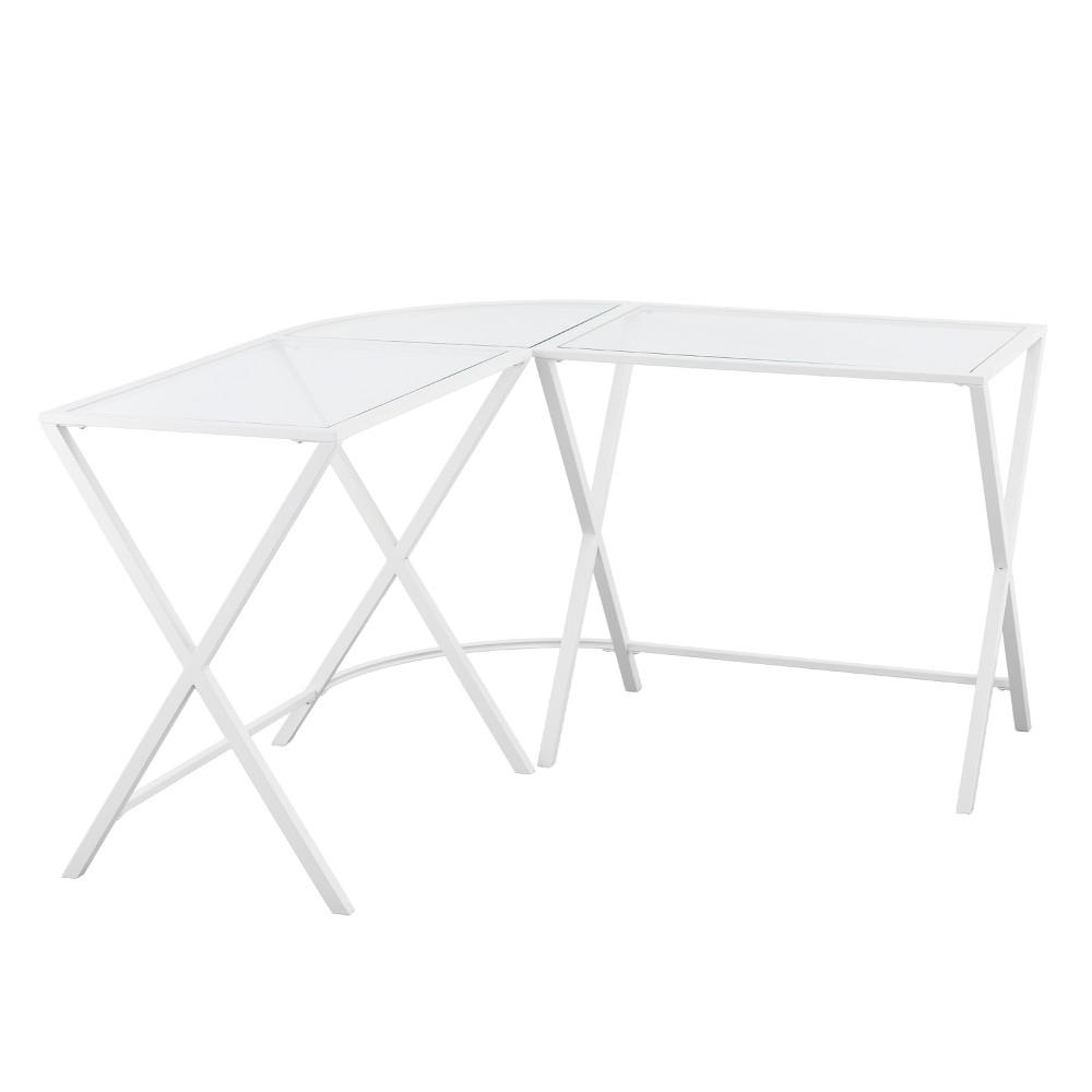 L Shape Corner Desk White - Aiden Lane