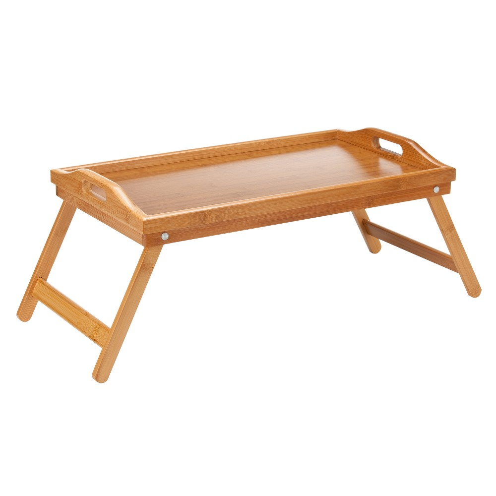 Image of Lipper International Bamboo Bed Tray with Folding Legs