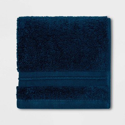 Spa Washcloth Dark Blue- Threshold Signature™