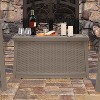 Suncast Elements 30 Gallon Outdoor Patio Resin Wicker Coffee Table (2 Pack) - image 3 of 4