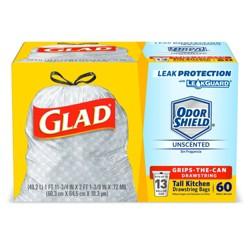 Glad Tall Kitchen Drawstring Trash Bags - 13 Gallon - 60ct