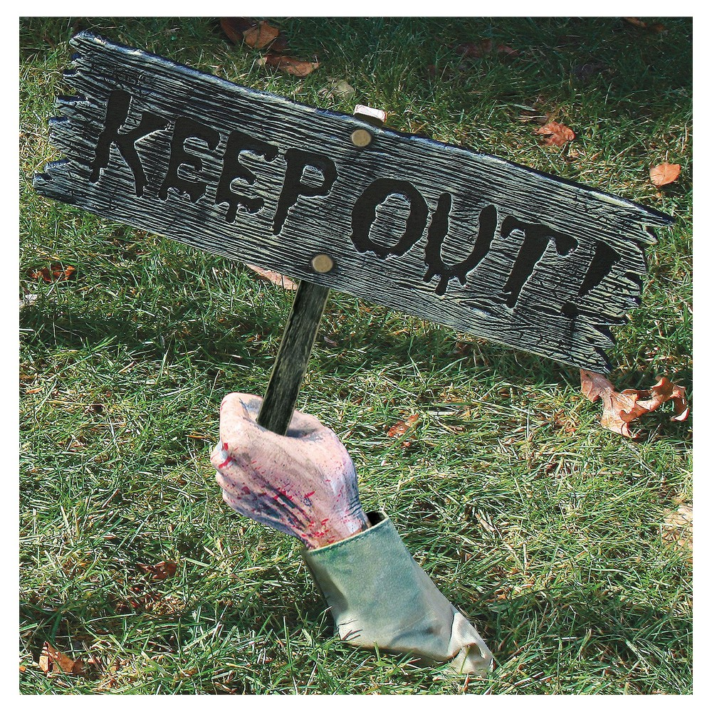 Halloween Keep Out Warning From Below!, Multi-Colored