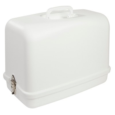 Singer Sewing Case With Built-in Handle White