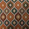 Set of 2 Indoor Flicker Jewel Reversible Chair Pad Orange/Blue - Pillow Perfect - image 2 of 2