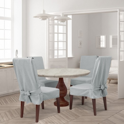 Dining Table Chair Slipcovers farmhouse basketweave dining room chair slipcover : target