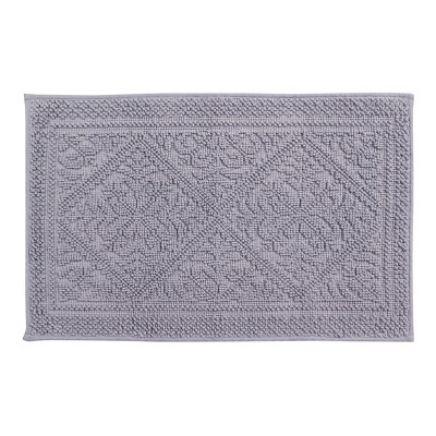 "17""X24"" Provence Jacquard Bath Rug Gray - Better Trends"