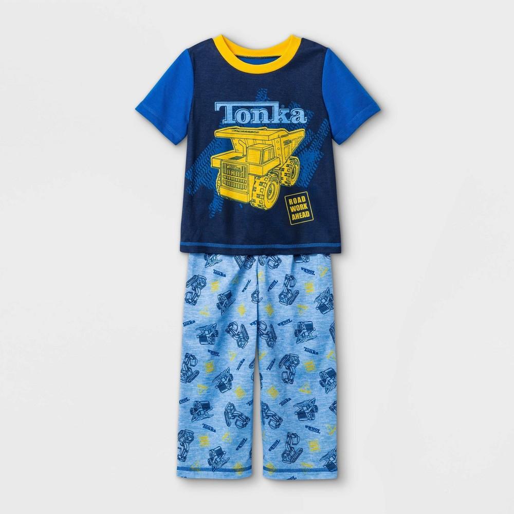 Toddler Boys 39 2pc Tonka Pajama Set Blue 4t