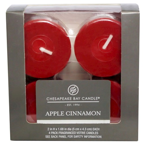 "2"" 4pk Votive Candle Apple Cinnamon - Chesapeake Bay Candle - image 1 of 1"