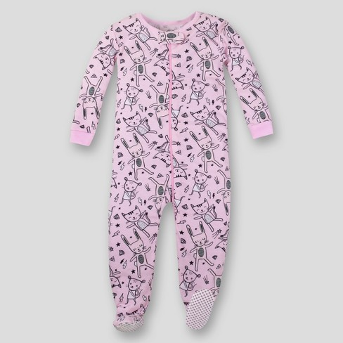 a7d670ac9 Lamaze Toddler Girls  Organic Bunny Stretchy Footed Sleeper - Pink 2T