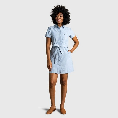 Women's United By Blue Organic Chambray Button-Down Shirt Dress - Chambray Indigo