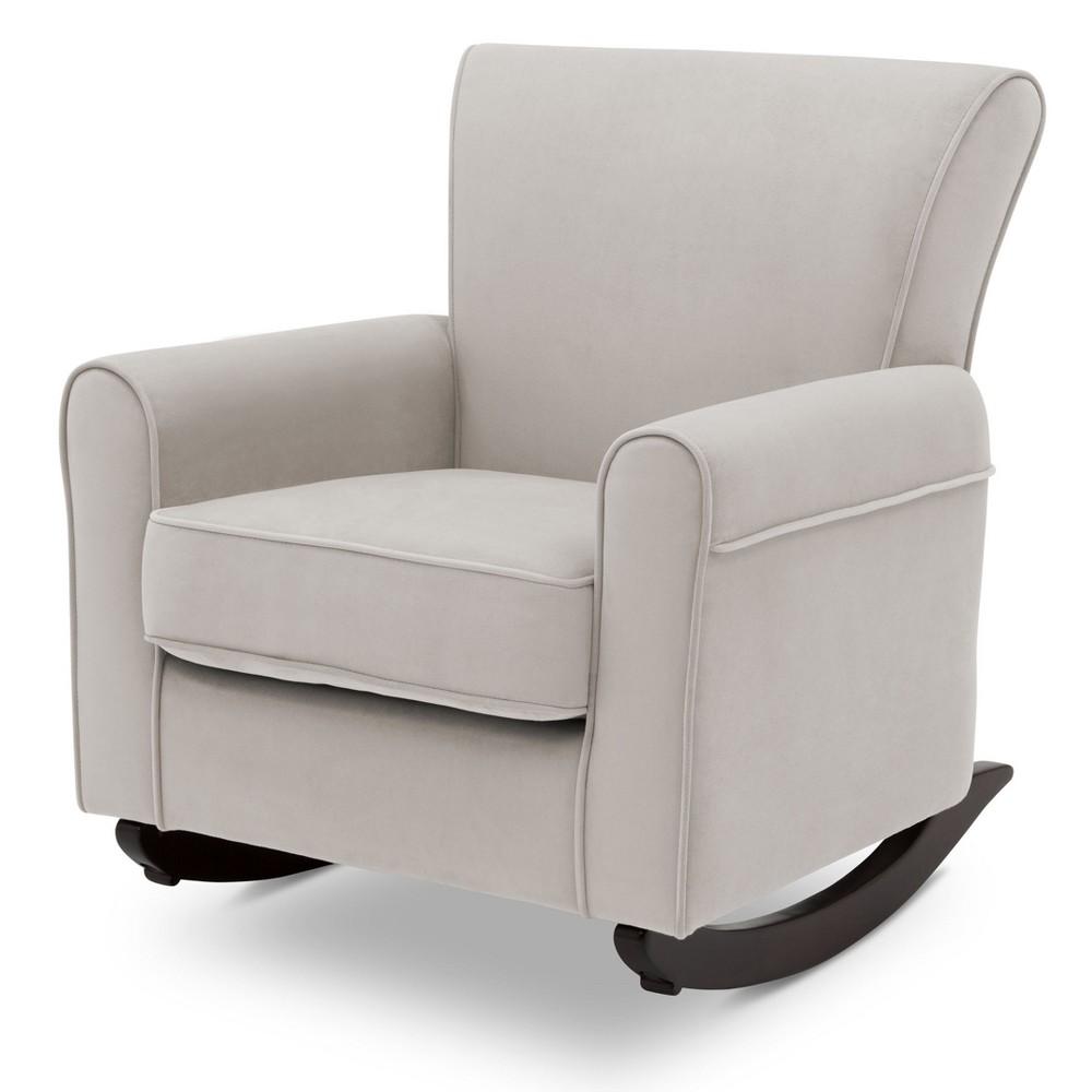 Delta Children Lancaster Rocking Chair - Linen/Dark Chocolate