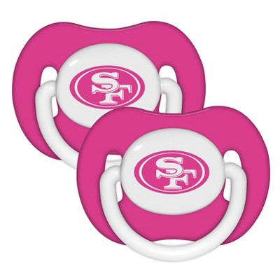 San Francisco 49ers 2pk Pacifier Set - Pink