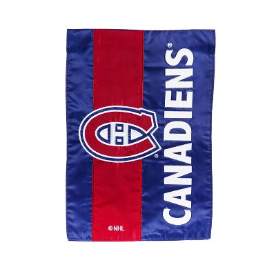Team Sports America Montreal Canadiens Outdoor Safe Double-Sided Embroidered Logo Applique Garden Flag, 12.5 x 18 inches