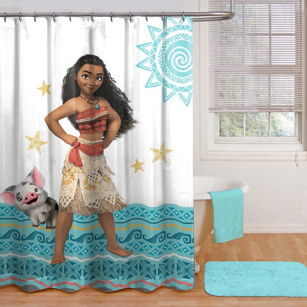 Image of Disney Moana Shower Curtain Blue