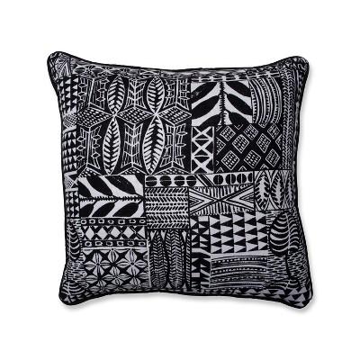 Imani Square Throw Pillow Black - Pillow Perfect