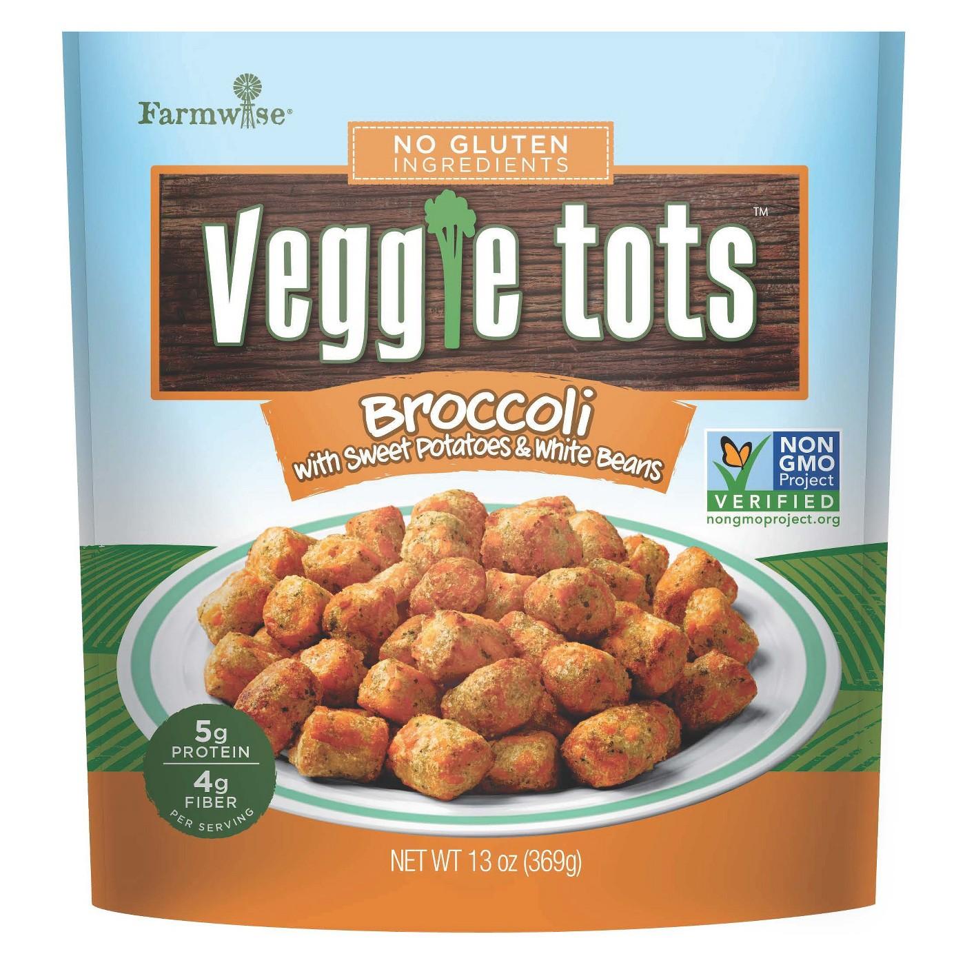 Farmwise Frozen Broccoli & Sweet Potatoes Veggie Tots - 13oz - image 1 of 1