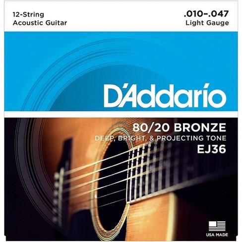 D'Addario EJ36 12-String 80/20 Bronze Light Acoustic Guitar Strings - image 1 of 4