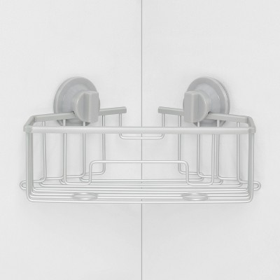Rustproof Suction Corner Basket Aluminum - Made By Design™