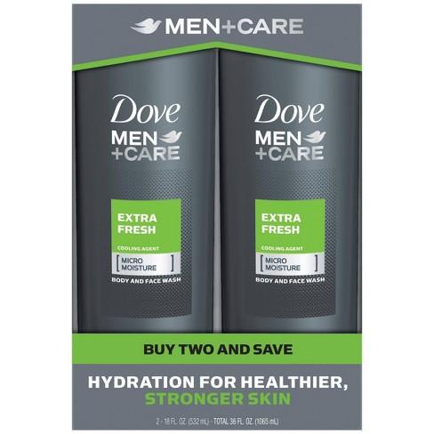 Dove Men Care Extra Fresh Micro Moisture Cooling Body Wash 18 Fl Oz 2pk Target