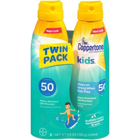 d650bb8df89cc Coppertone Kids C Sunscreen Spray - SPF 50 Twin Pack - 11 Oz   Target