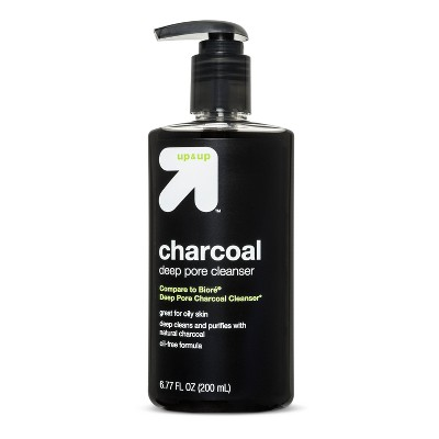 Facial Cleanser: up & up Charcoal Deep Pore Cleanser