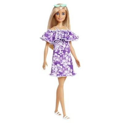 Barbie Loves the Ocean Doll - Purple Floral Dress