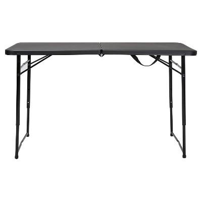 4u0027 Indoor Outdoor Adjustable Height Folding Tailgate Table   Cosco : Target