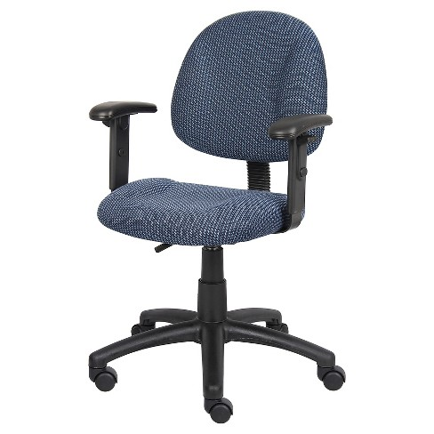Deluxe Posture Chair with Adjustable Arms Blue - Boss Office Products - image 1 of 4