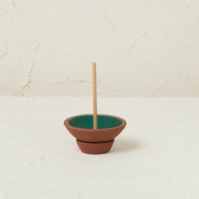 75ct Incense Sticks with Terracotta Plate Holder Teal Tropic Oasis - Opalhouse™ designed with Jungalow™
