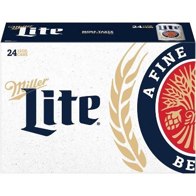 Miller Lite Beer- 24pk/12 fl oz Cans