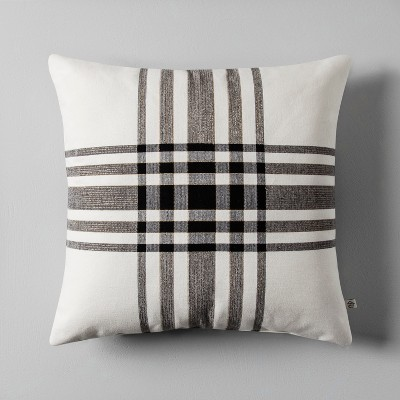 Plaid Throw Pillow (18 )- Cream/Black - Hearth & Hand™ with Magnolia