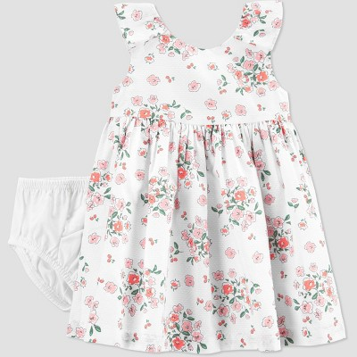 Baby Girls' Easter Dressy Floral Dress - Just One You® made by carter's White
