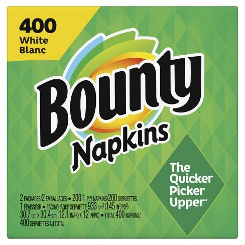 Bounty Paper Napkins White - 400ct - image 1 of 4