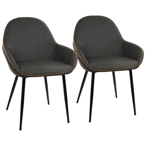 Set of 2 Clubhouse Contemporary Dining Chair Black/Gray - LumiSource - image 1 of 7