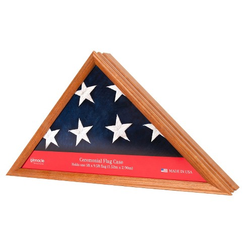 Pinnacle Frames Flag Case / Shadow Box - Teak - image 1 of 3