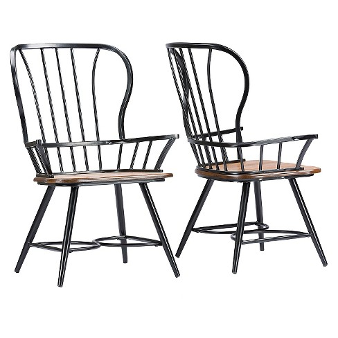 Longford Industrial Dining Arm Chair (Set Of 2) - Baxton Studio - image 1 of 3