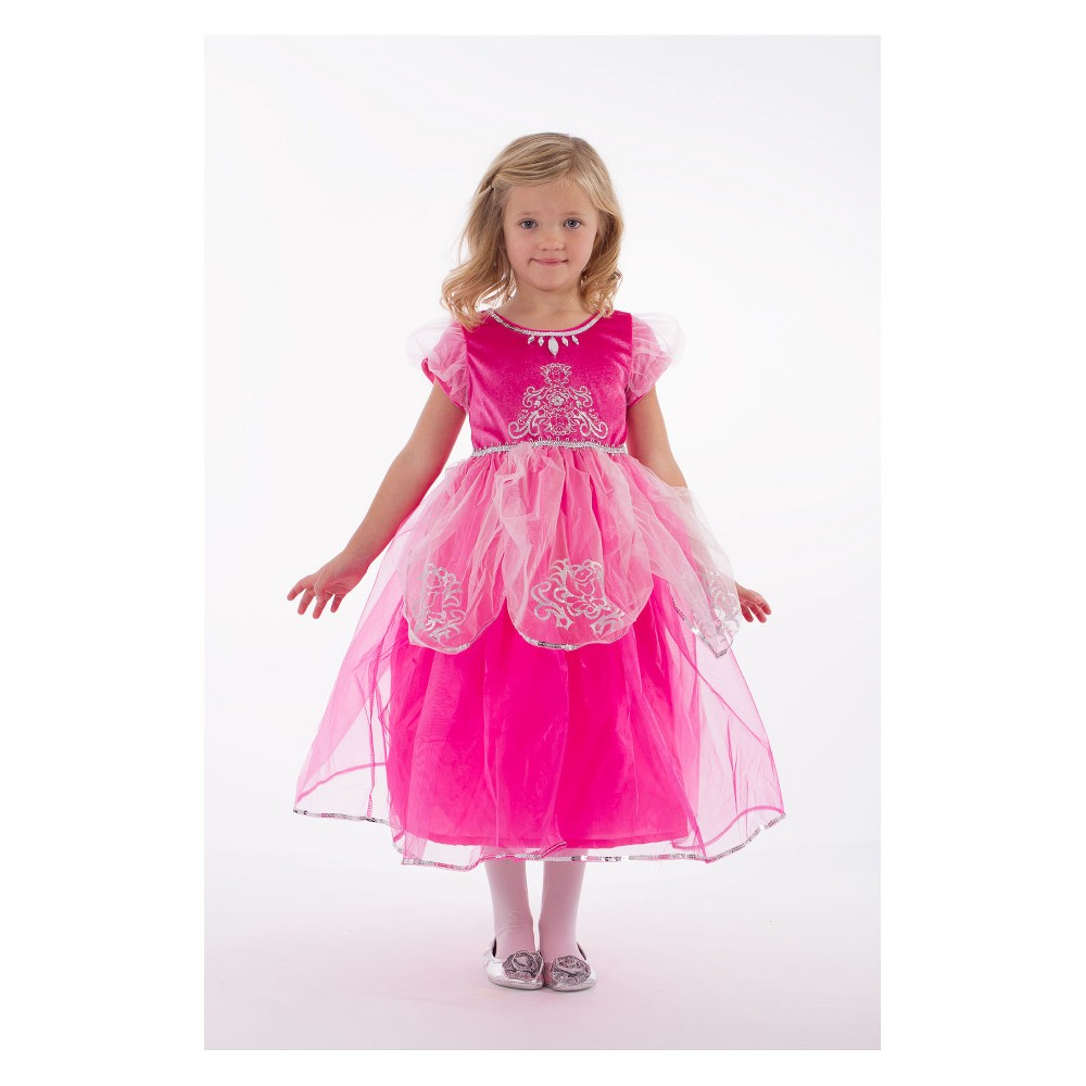 Little Adventures Child's Deluxe Pink Princess Dress - M, Girl's