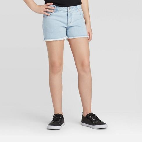 Girls' Jean Shorts - Cat & Jack™ Light Wash XL Plus : Target