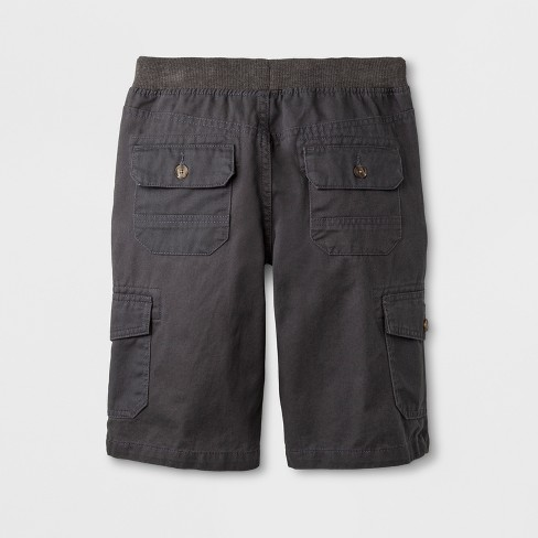 e39e20352c Boys' Cargo Shorts - Cat & Jack™ Charcoal XL Husky : Target