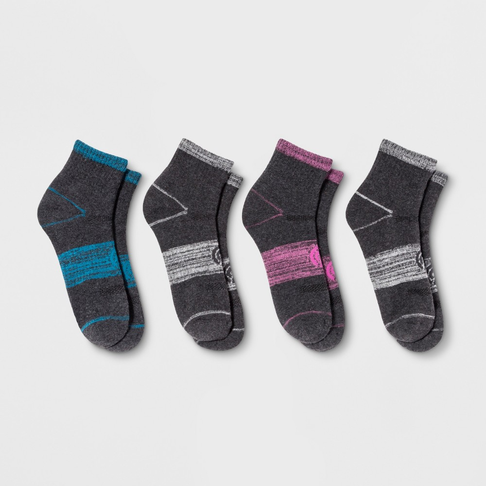 Women's 4pk Ankle Casual Socks - C9 Champion Rich Charcoal (Grey) 5-9