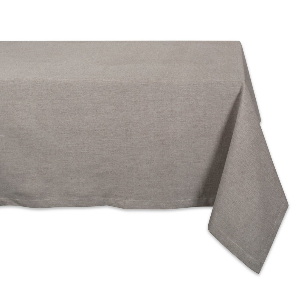 "Image of ""104""""x60"""" French Chambray Tablecloth Dark Gray - Design Imports"""